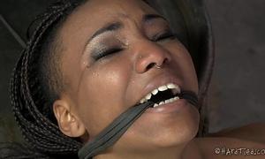 Flexible swarthy pang doxy in lezdom slavery