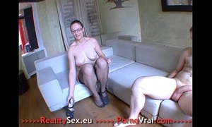 Sexy aged fuck with a stranger !! french non-professional