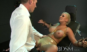 Bdsm xxx large breasted sub has her gap filled by rock hard master slaver