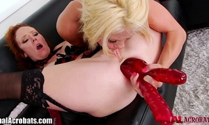 Analacrobats hawt lesbo unfathomable anal with toys