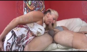 Double breasty oral job