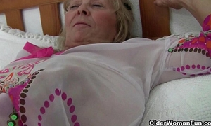British granny isabel has large whoppers and a fuckable fanny