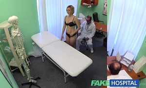Fakehospital recent doctor receives concupiscent milf in nature's garb and soaked with want