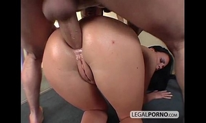 Two lascivious brunettes drilled hard in the booty mg-3-02