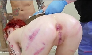 Anal birth - ava little gives birth to kittens out of her rectal hole