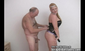Old dude bobbie receives pegged by the straponprincess