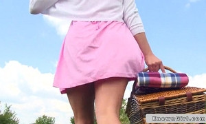 British pair fucking on picnic outdoors