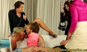 Piss wet wench drilled