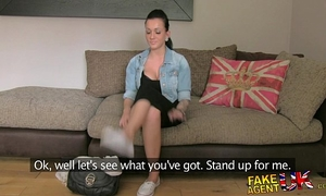 Fakeagentuk ravishing youthful dilettante acquires creampie after intensive real big O