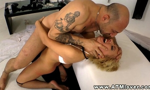 Blonde honeys constricted anal opening wrecked hard