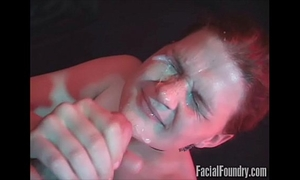 Nervous redhead sucks pecker as unfathomable as this babe can