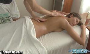 Teen massage cheerful ending