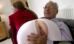 Teen dilettante glamour bonks old guy after engulfing