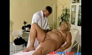 Bbw older comes to the doctor for sex