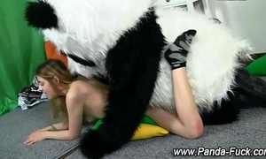 Fetish legal age teenager bonks plush panda