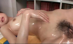 Sara seori oils up her body and fingers her love tunnel