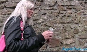 Amateur large milk cans radka screwed and jizzed on for some money