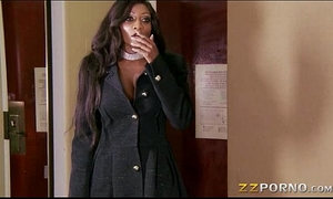 Busty swarthy call amateur wife diamond jackson likes giant dick in her slit