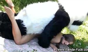Teen toy panda fake cum facial