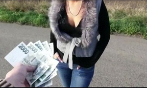 Nasty non-professional eurobabe zuzana arsehole drilled for cash
