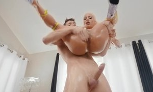 Blonde pornstar Luna Star fucked in hardcore sex in her asshole anal sex and then cumshot in her mouth