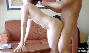 Amateur housewife gets fucked hard from behind