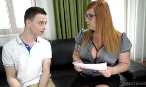 Chubby woman seduced Nikki into licking and fucking her wet hole