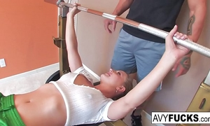 Avy scott receives a fucking with her workout routine