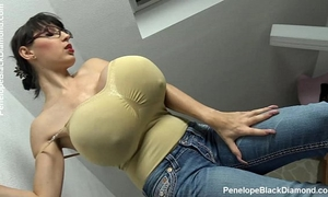 Penelope dark diamond - milking melons - breastfeeding whoppers preview
