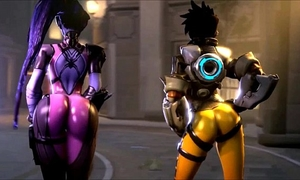 Overwatch is oversexxed tracer vs widowmaker a-hole madness