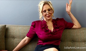 Busty blond teacher julia ann copulates herself!