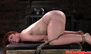 Spreadeagled thraldom sub bound up and whipped