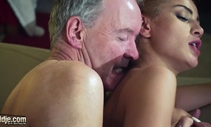 Old guy dominated by hot hawt honey in old juvenile femdom hardcore fucking