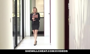 Shewillcheat - slutty real estate agent copulates bbc