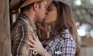 Hd fantasyhd - cowgirl dani daniels rides schlong at the farm