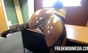 Armani sticky's large dark arse receives fucked by bbc
