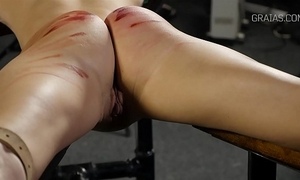 Helpless white wife whipped by 2