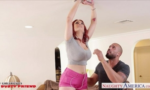 Redhead girlfriend siri acquires love tunnel licked and drilled