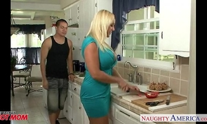 Chesty blond mommy alexis golden take pecker