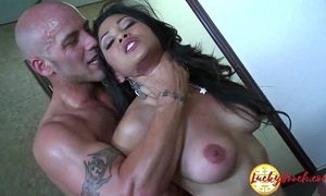 Gorgeous interracial large titted oriental milf secretary screwed hard on the desk