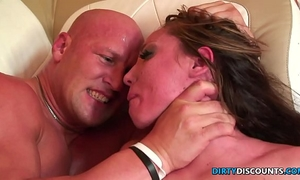 Roughfucked milf chokes on heavy shlong