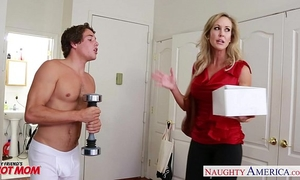 Busty golden-haired mamma brandi love fucking