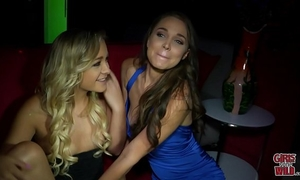 Girls gone wild - youthful blond lesbos make out and eat slit in club