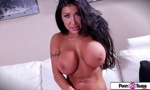 Pornstar tease - august taylor show u her large scoops and large arse