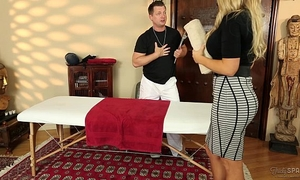 Senator olivia austin drilled by the masseuse