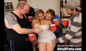 Curvy lalin girl hollie receives team-fucked and bukkakeed