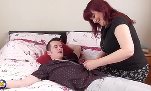 Mature mother seduces juvenile chap
