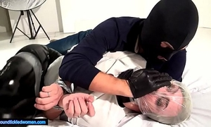 Ammalia handsmothered tied tickled and suffocated by a dude in balaclava