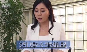 Asian news reader fingered whilst on webcam