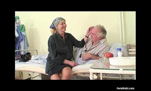 Granny watches granddad bonks nurse in hospital
